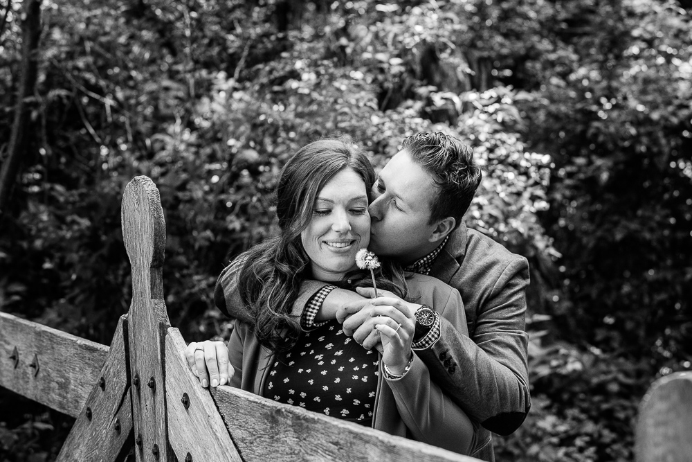 Loveshoot in het bos